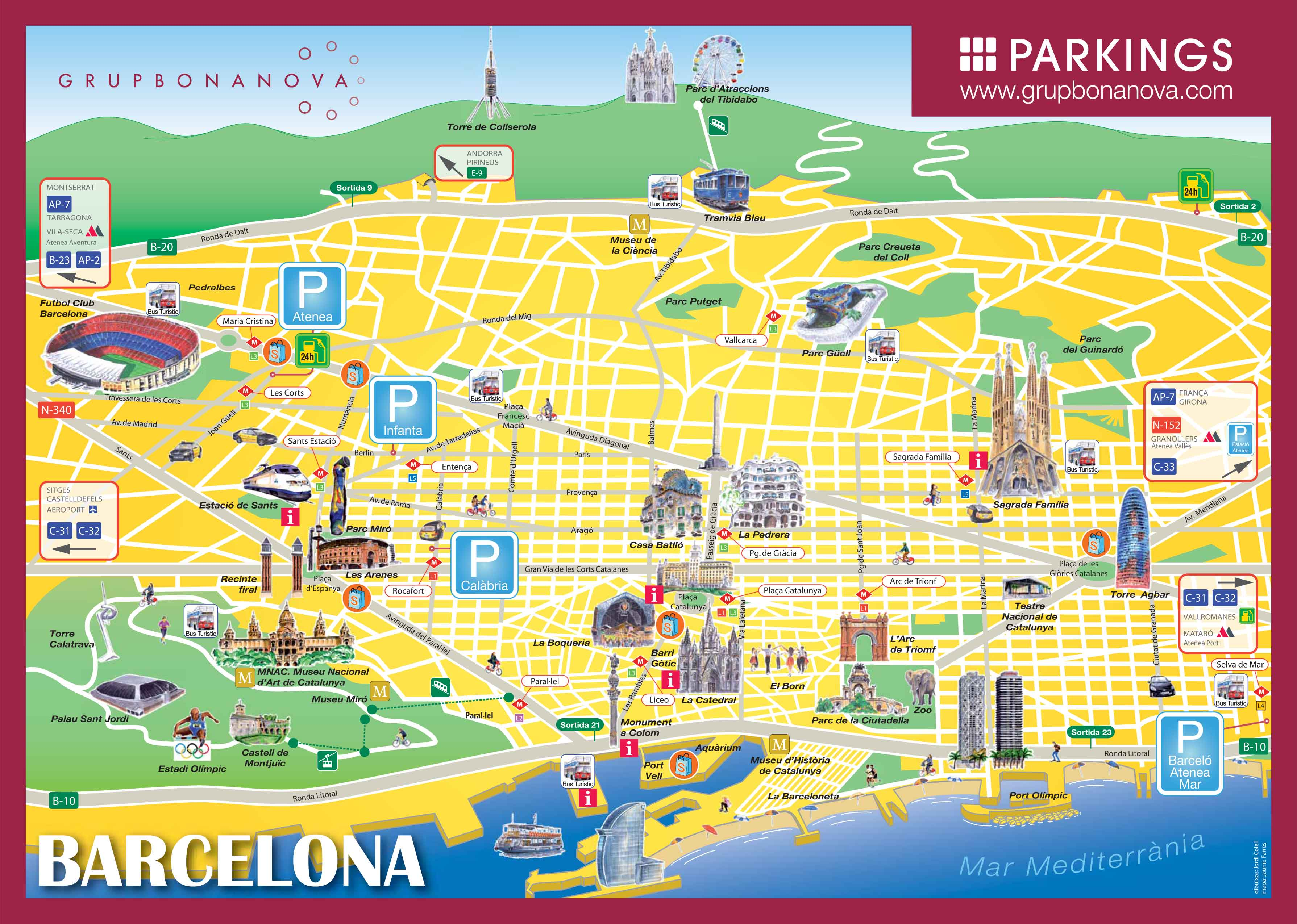 Parking Car Barcelona Parkings En Barcelona Bus Turistic